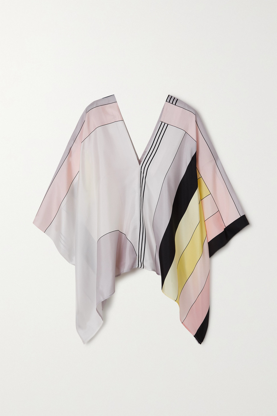 LOUISA PARRIS + NET SUSTAIN Majorca printed silk-twill top
