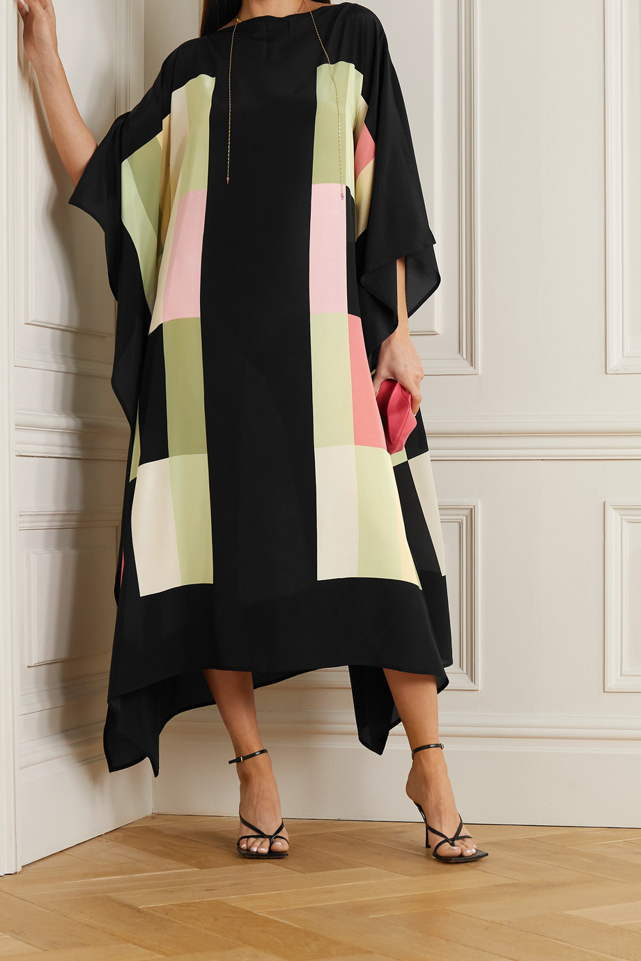 LOUISA PARRIS + NET SUSTAIN Sinatra printed silk crepe de chine midi dress