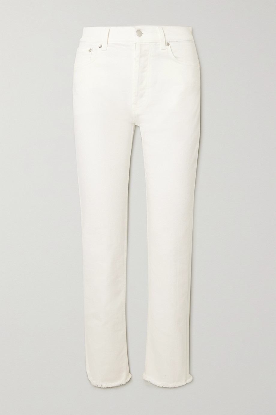 CHRISTOPHER KANE Frayed organic mid-rise straight-leg jeans