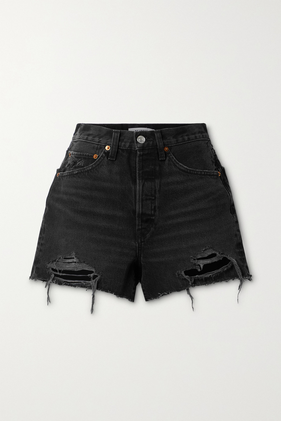 RE/DONE 50s distressed denim shorts