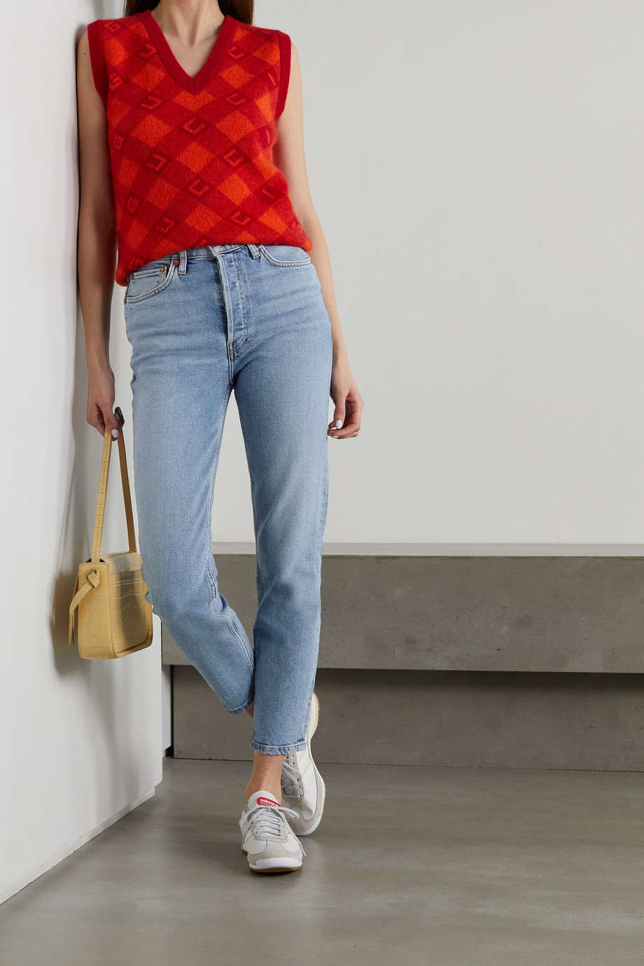 RE/DONE 90s Comfort Stretch High-Rise Ankle Crop skinny jeans
