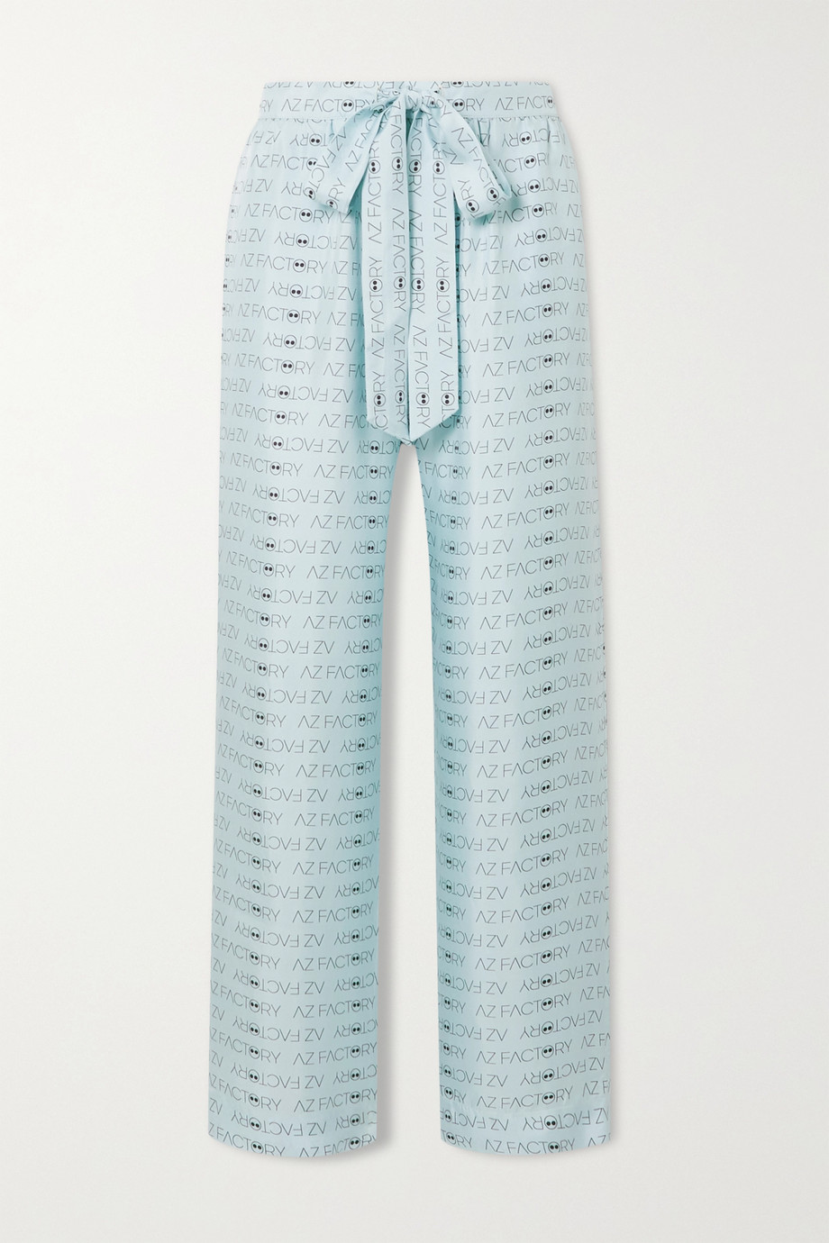 AZ FACTORY Pijama Look But Don't Touch printed silk-twill wide-leg pants