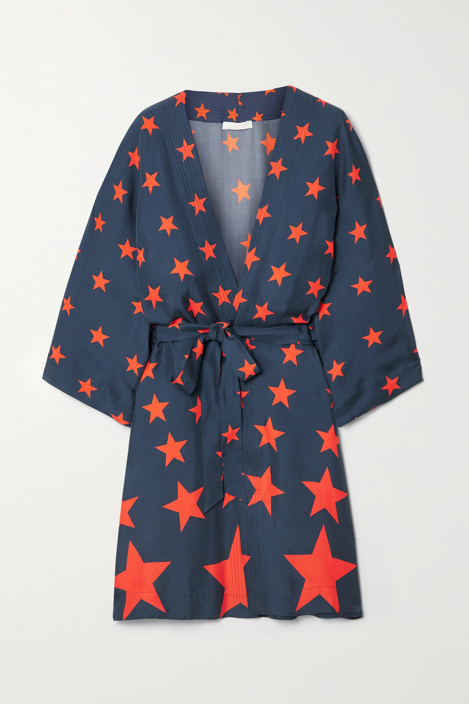 AZ FACTORY Pijama You're A Star belted printed silk-twill robe