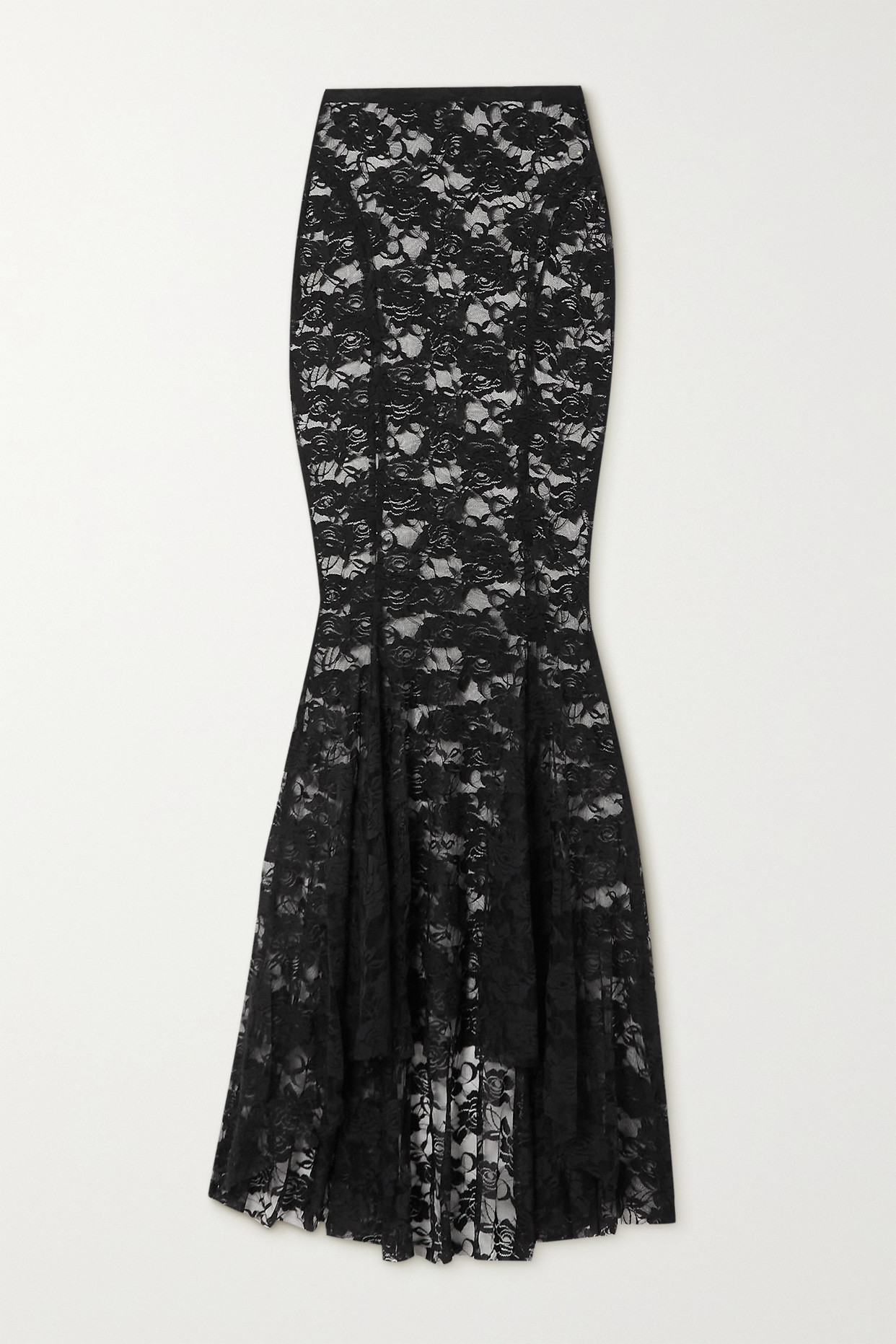 NORMA KAMALI - Lace Maxi Skirt - Black - x small