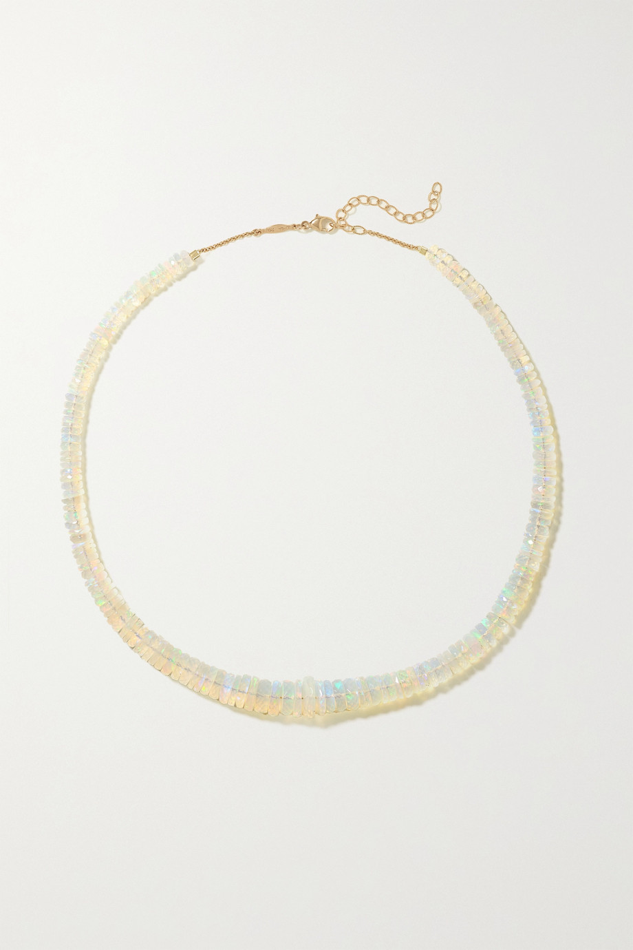 JACQUIE AICHE 14-karat gold opal necklace