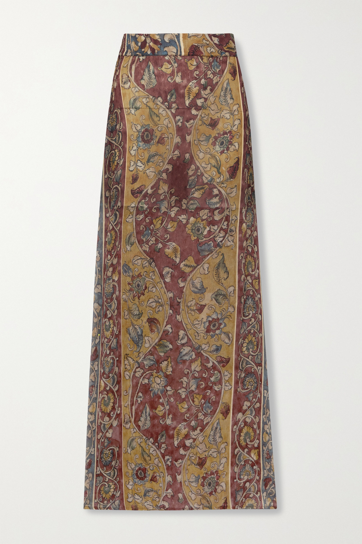 SAVANNAH MORROW THE LABEL - + Net Sustain Iris Printed Silk-crepon Maxi Skirt - Brown - x small