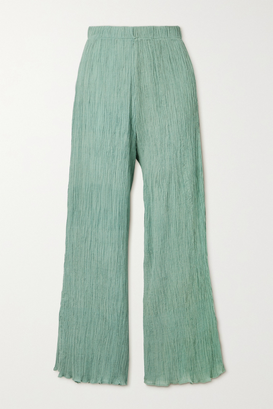SAVANNAH MORROW THE LABEL + NET SUSTAIN June crinkled organic cotton-gauze pants