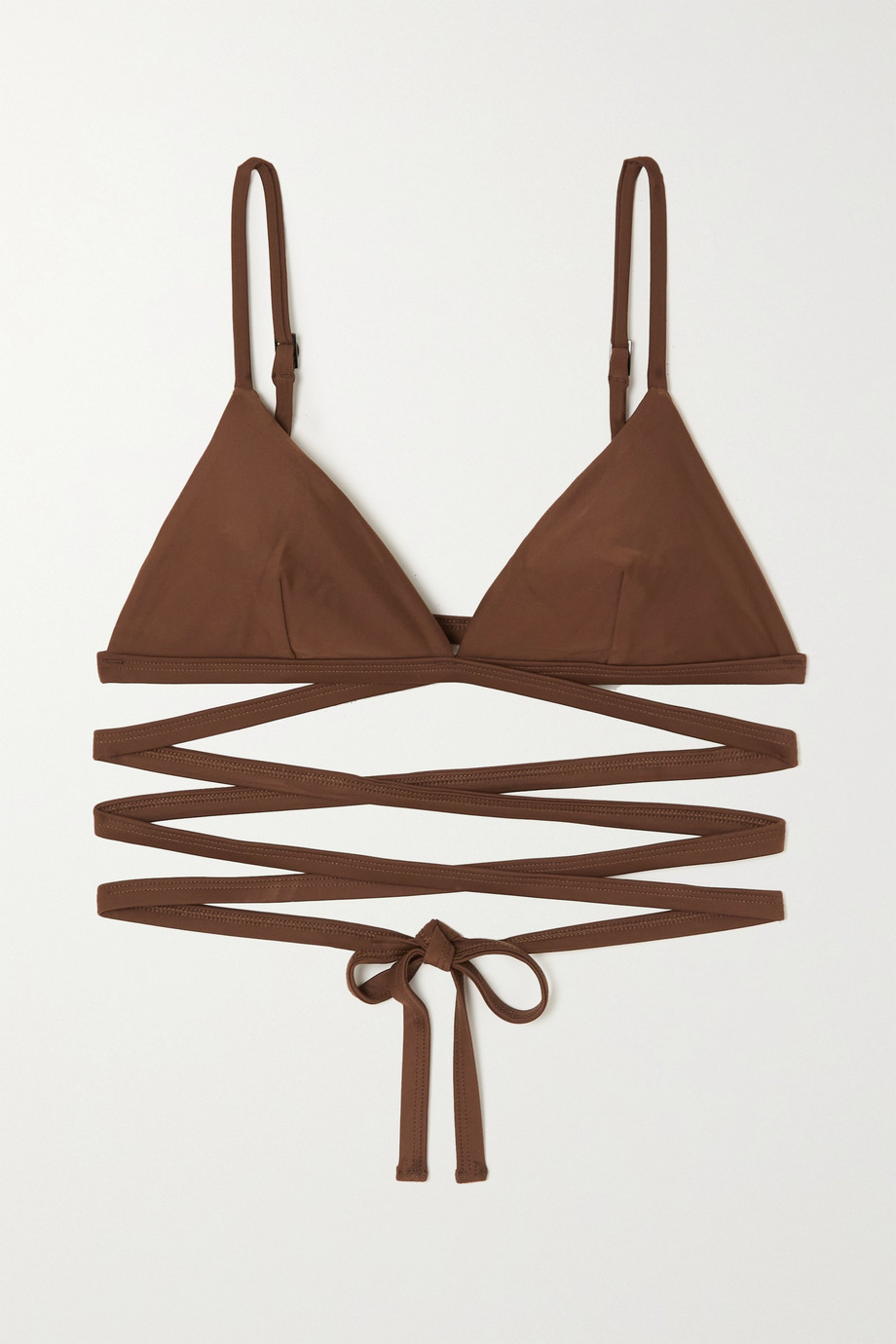 NET SUSTAIN Wrap triangle bikini top by MATTEAU, available on net-a-porter.com for $135 Alessandra Ambrosio Top Exact Product
