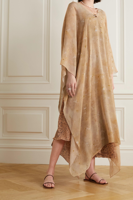 CORTANA + NET SUSTAIN printed silk kaftan