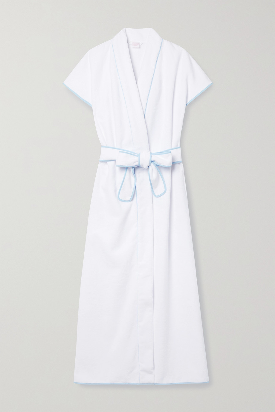 LORETTA CAPONI Lidia hooded embroidered cotton-terry robe