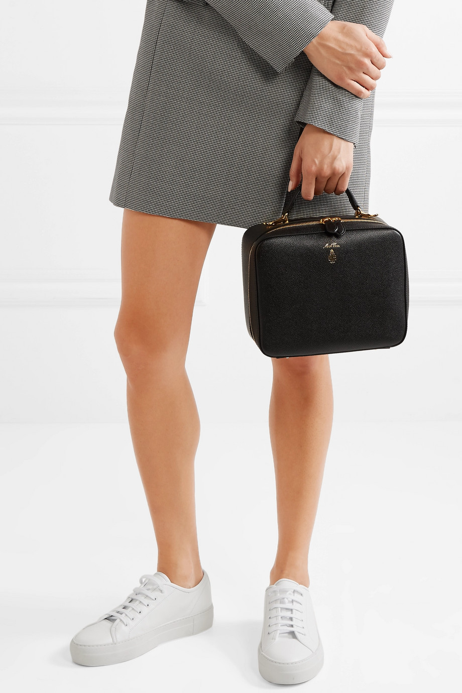 MARK CROSS Laura textured-leather shoulder bag