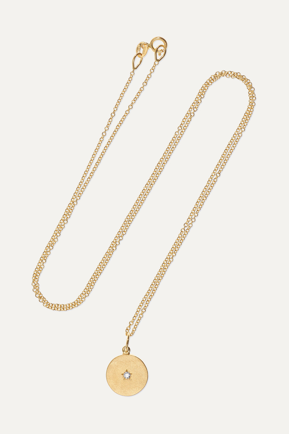 ANDREA FOHRMAN Full/ New Moon 18-karat gold diamond necklace