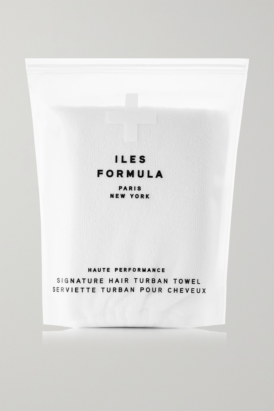ILES FORMULA Signature Hair Turban Towel - White