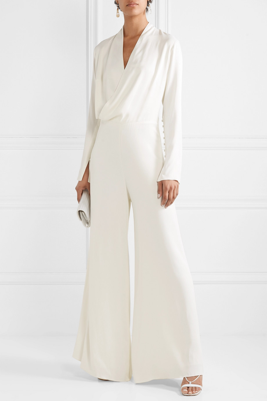 VANESSA COCCHIARO The Tina wrap-effect matte-satin jumpsuit