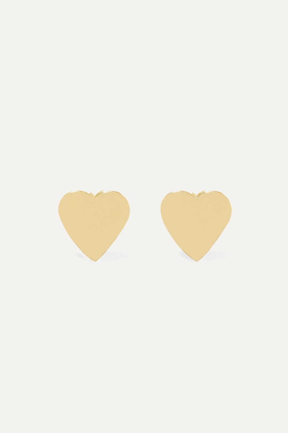 JENNIFER MEYER Heart 18-karat gold earrings