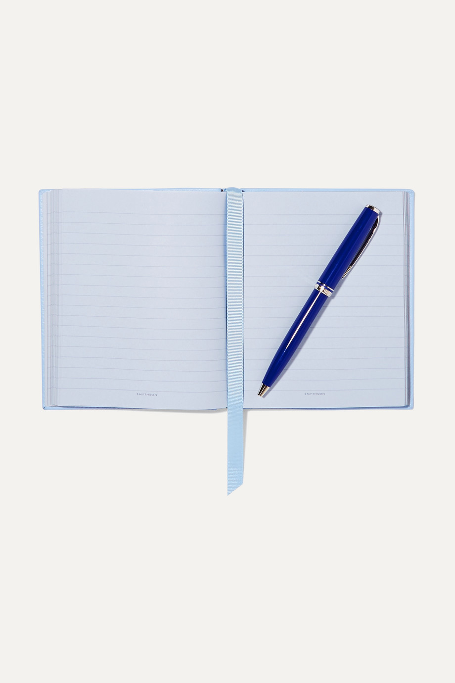 SMYTHSON Panama Something Old, Something New, Something Borrowed, Something Blue textured-leather notebook