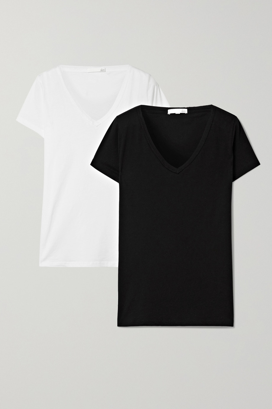 SKIN Set of two Pima cotton-jersey T-shirts