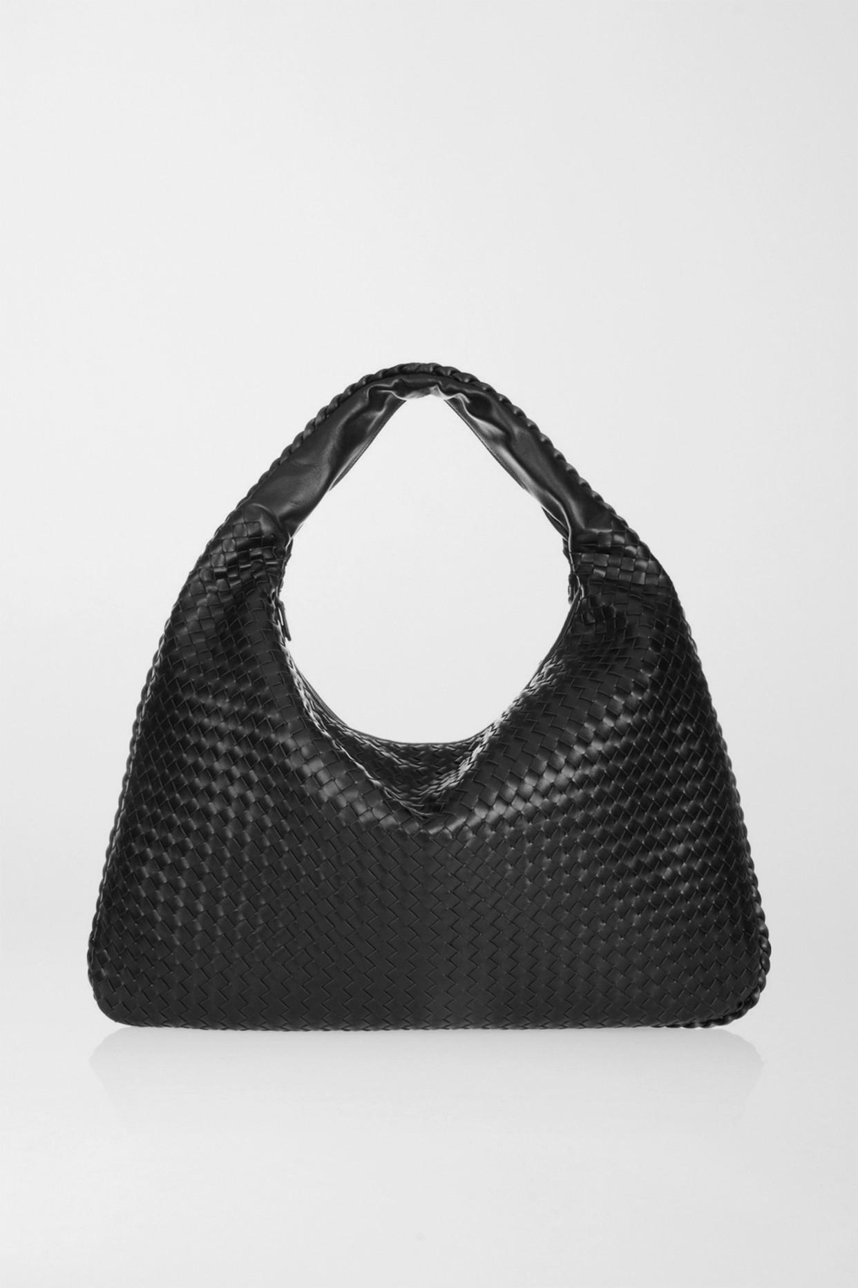BOTTEGA VENETA - Maxi Veneta Intrecciato 皮革单肩包 - 黑色 - one size