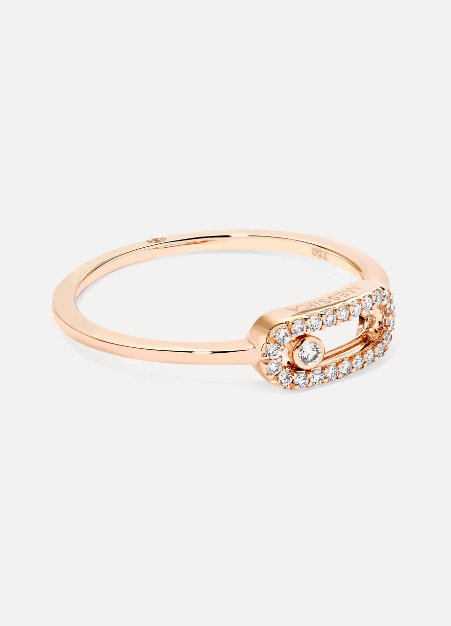 MESSIKA Move Uno 18-karat rose gold diamond ring