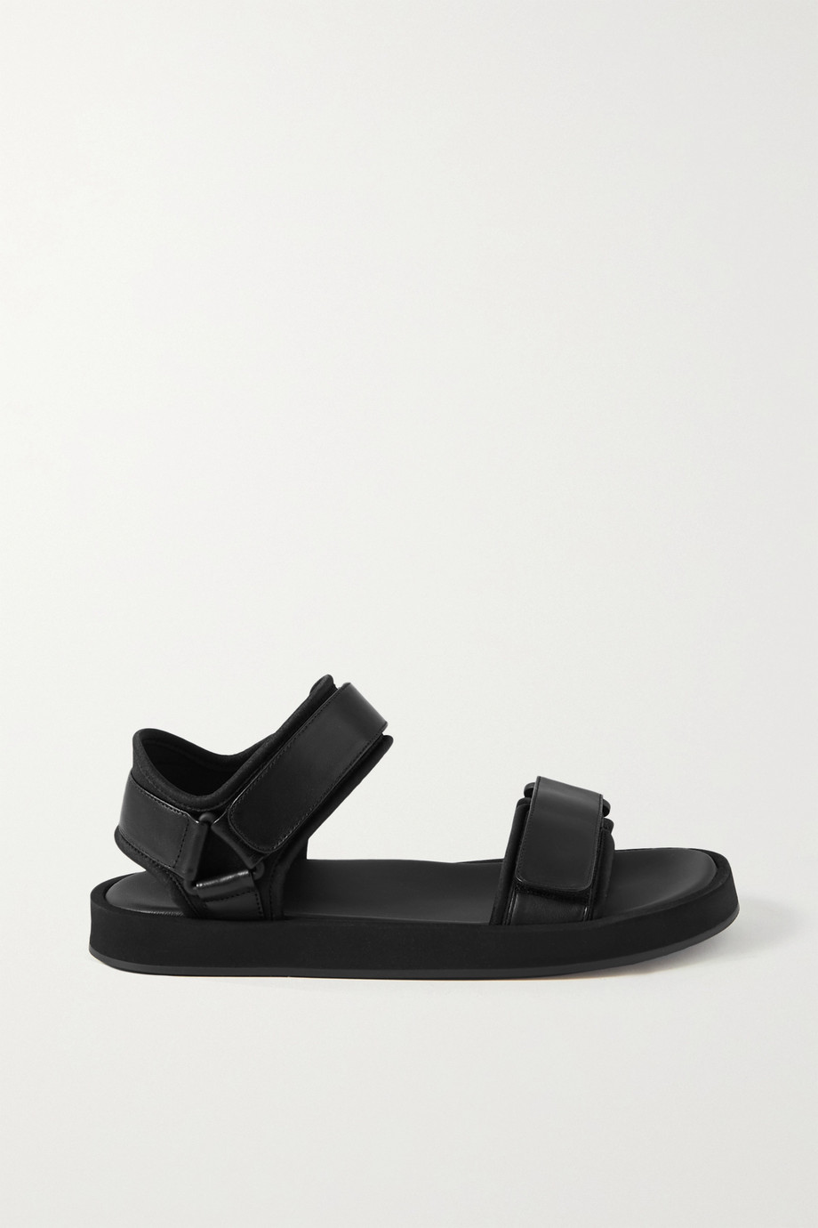 THE ROW Hook and Loop leather and neoprene sandals