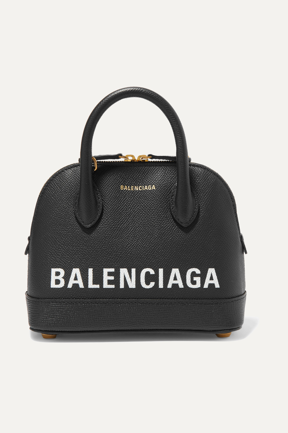 BALENCIAGA Ville XXS AJ printed textured-leather tote