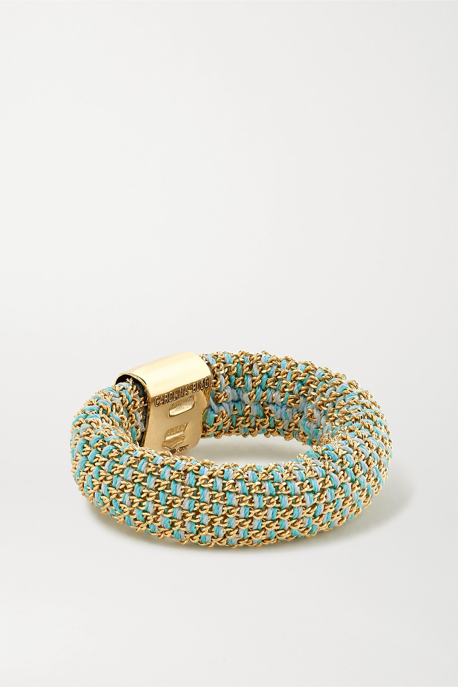 CAROLINA BUCCI Slide 18-karat gold and silk ring