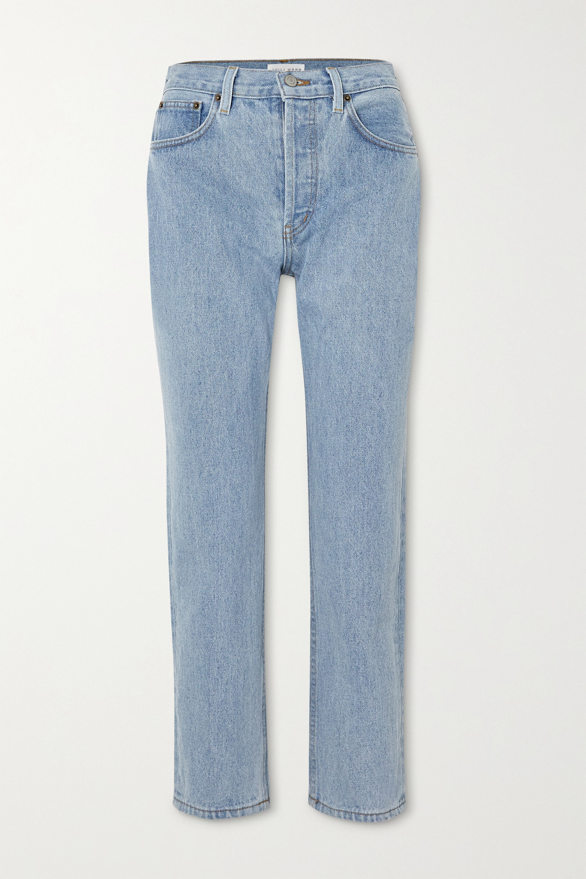 STILL HERE Tate cropped high-rise straight-leg jeans
