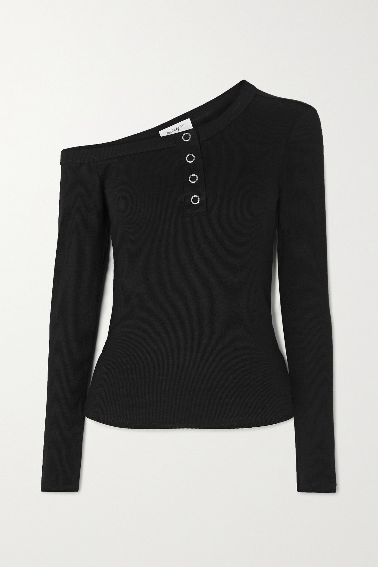 THE LINE BY K - Harley Off-the-shoulder Ribbed Jersey Top - Black - x small