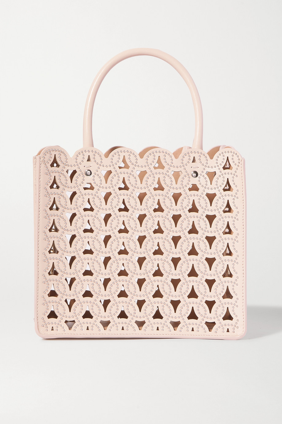 Alaïa Garance mini studded laser-cut leather tote