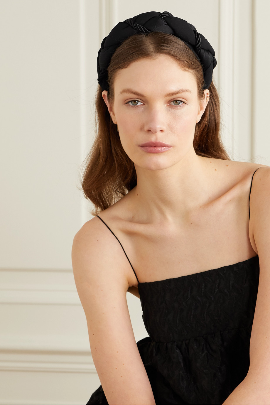 SOPHIE BUHAI + NET SUSTAIN braided satin headband