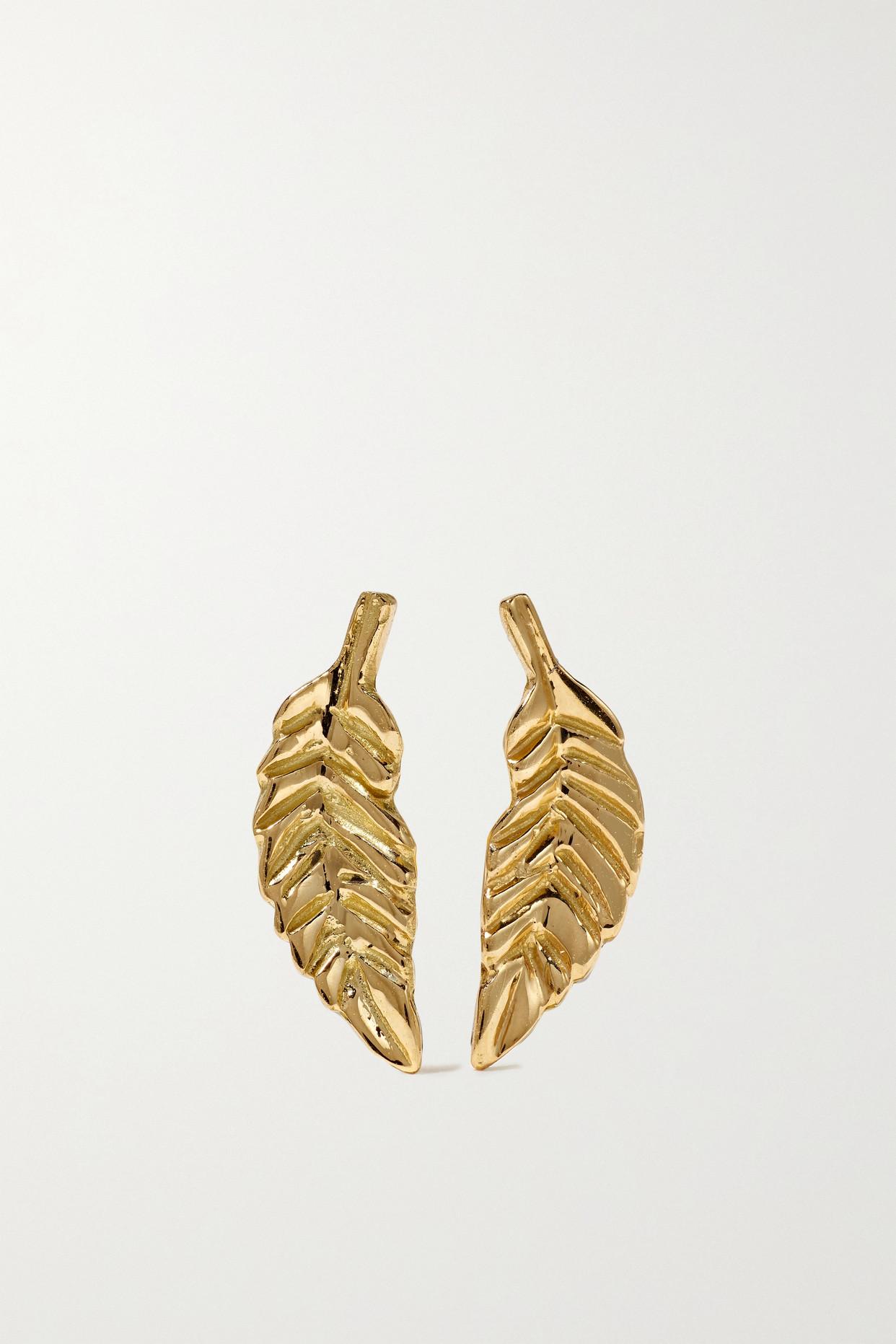 BROOKE GREGSON - Leaf 18-karat Gold Earrings - one size