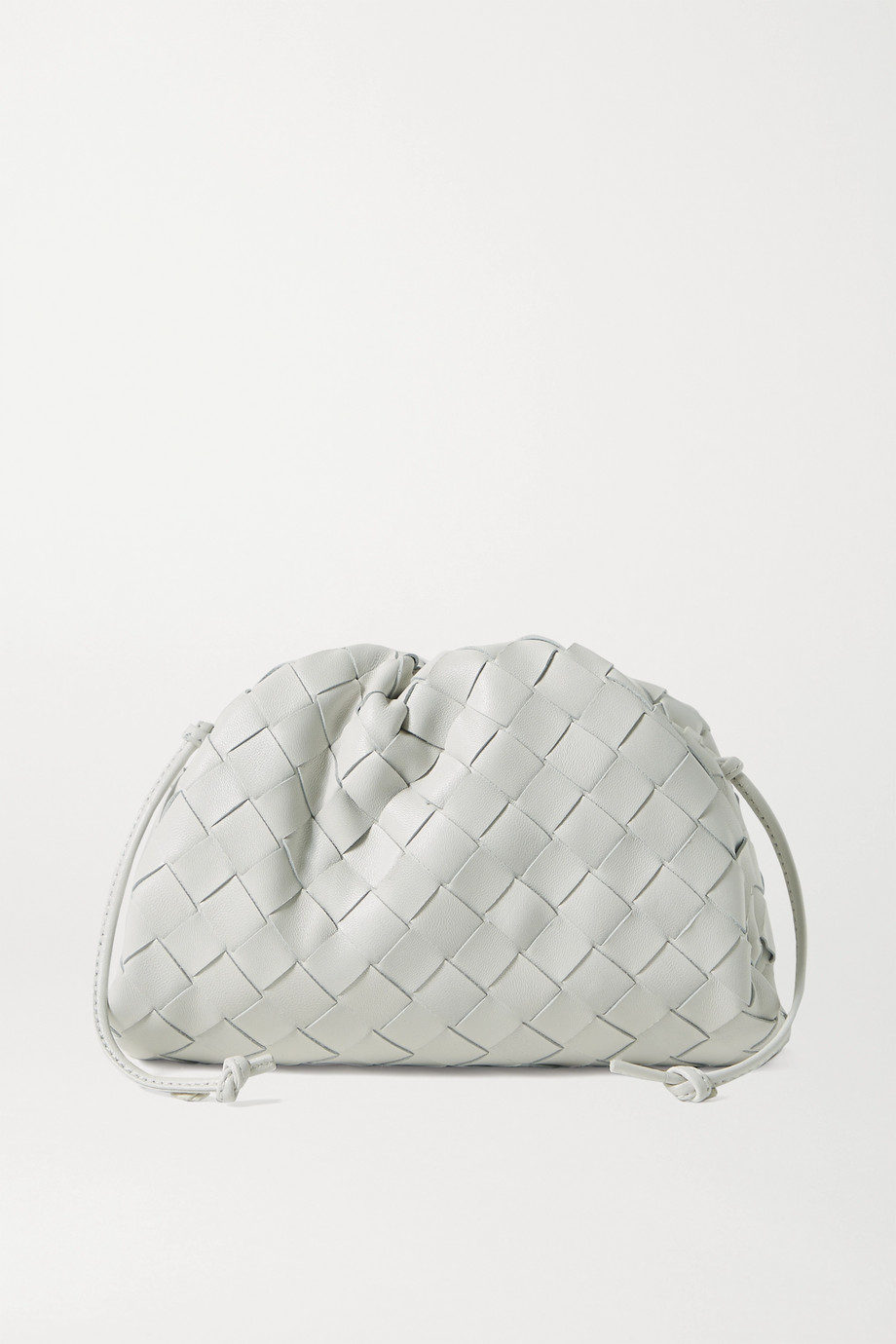 BOTTEGA VENETA The Pouch mini gathered intrecciato leather clutch