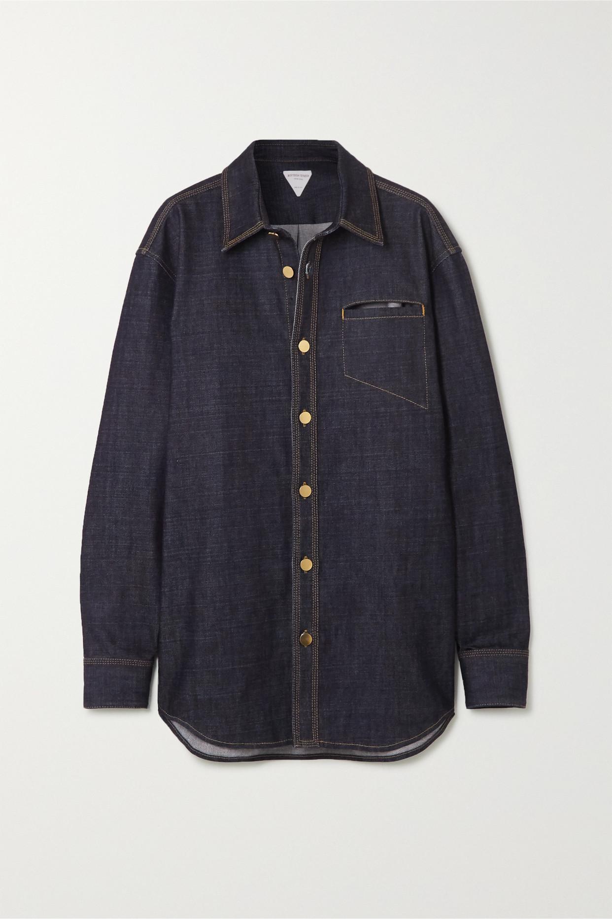BOTTEGA VENETA - Cutout Denim Shirt - Blue - IT36