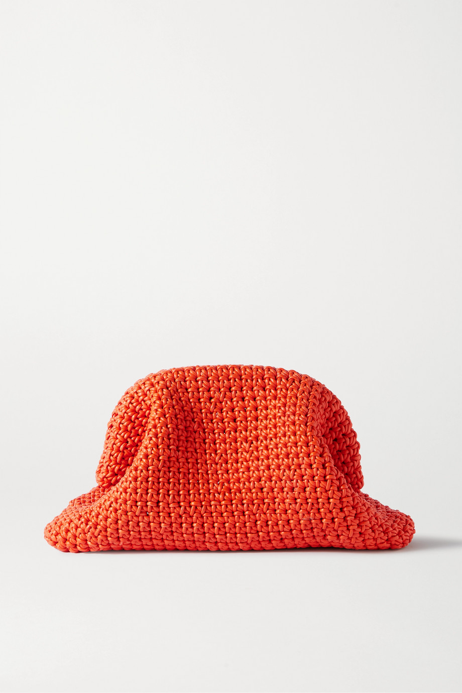 BOTTEGA VENETA The Pouch large crocheted leather clutch