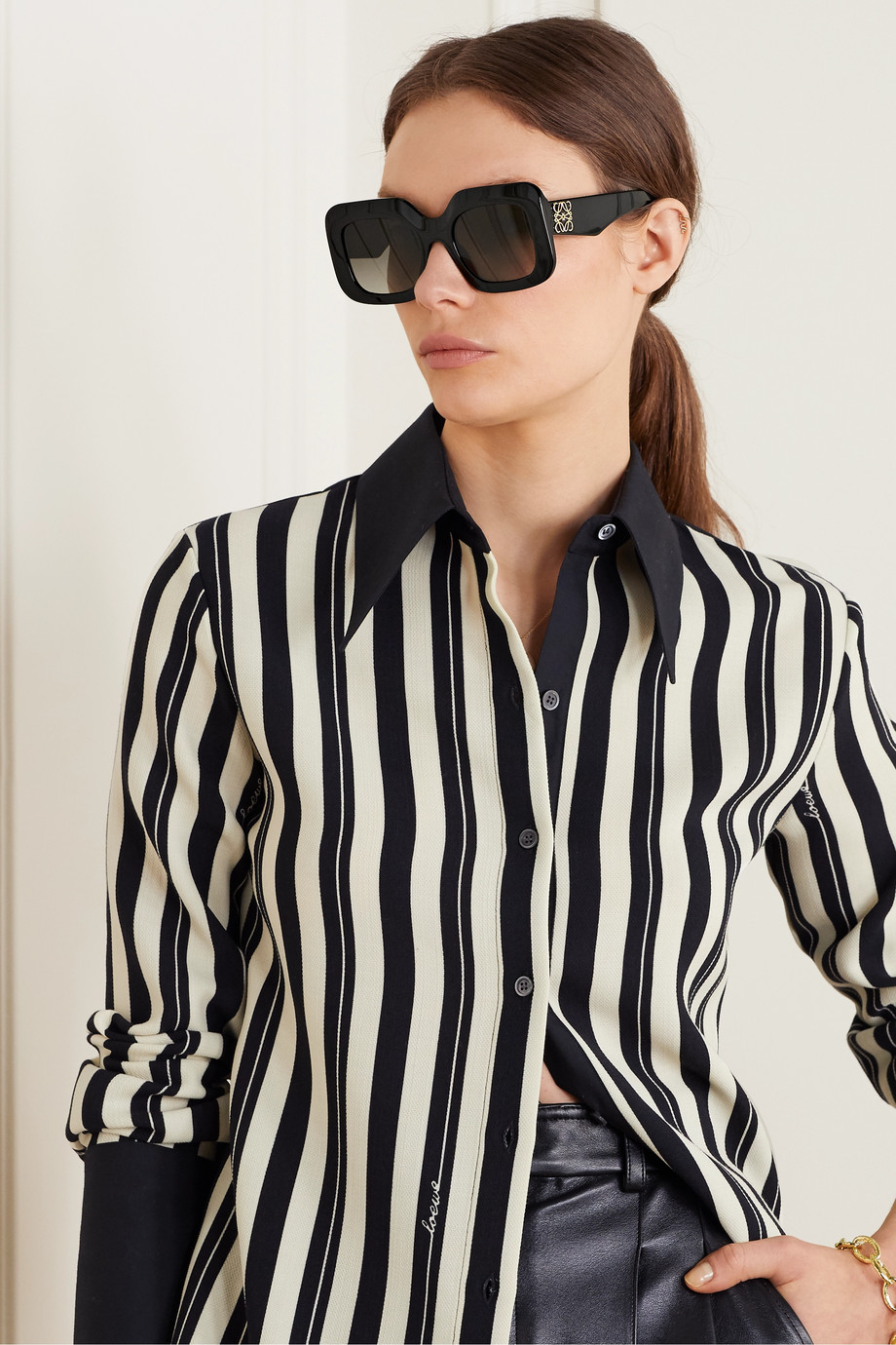 LOEWE Oversized square-frame acetate sunglasses