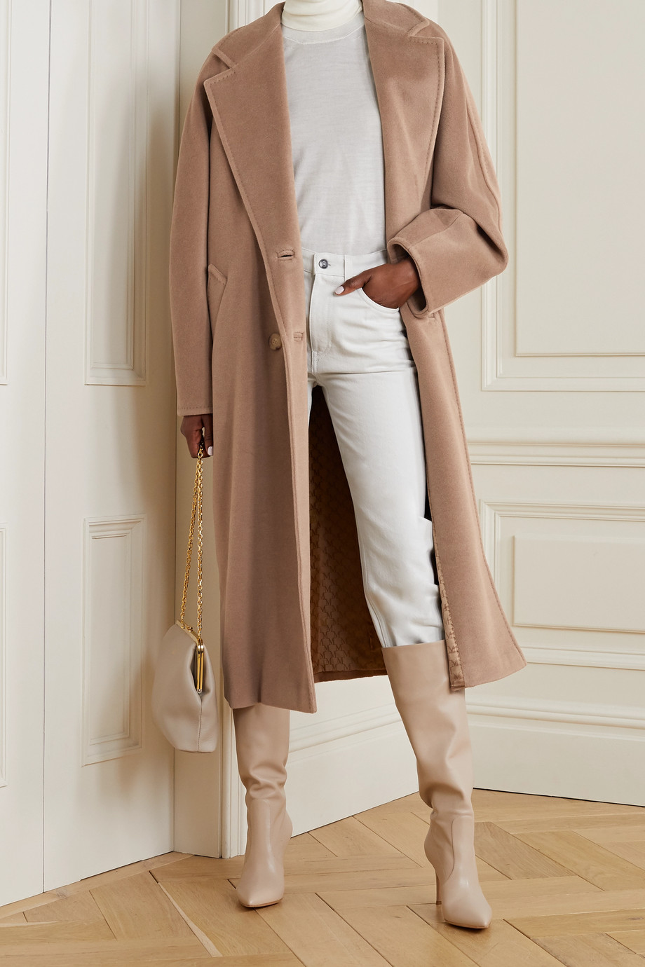 MAX MARA 101801 Icon double-breasted wool and cashmere-blend coat