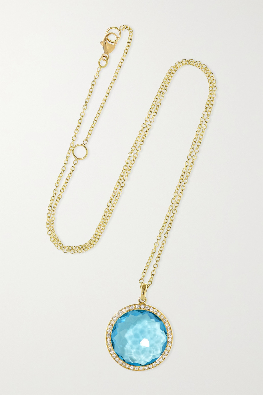 IPPOLITA Lollipop medium 18-karat green gold, topaz and diamond necklace