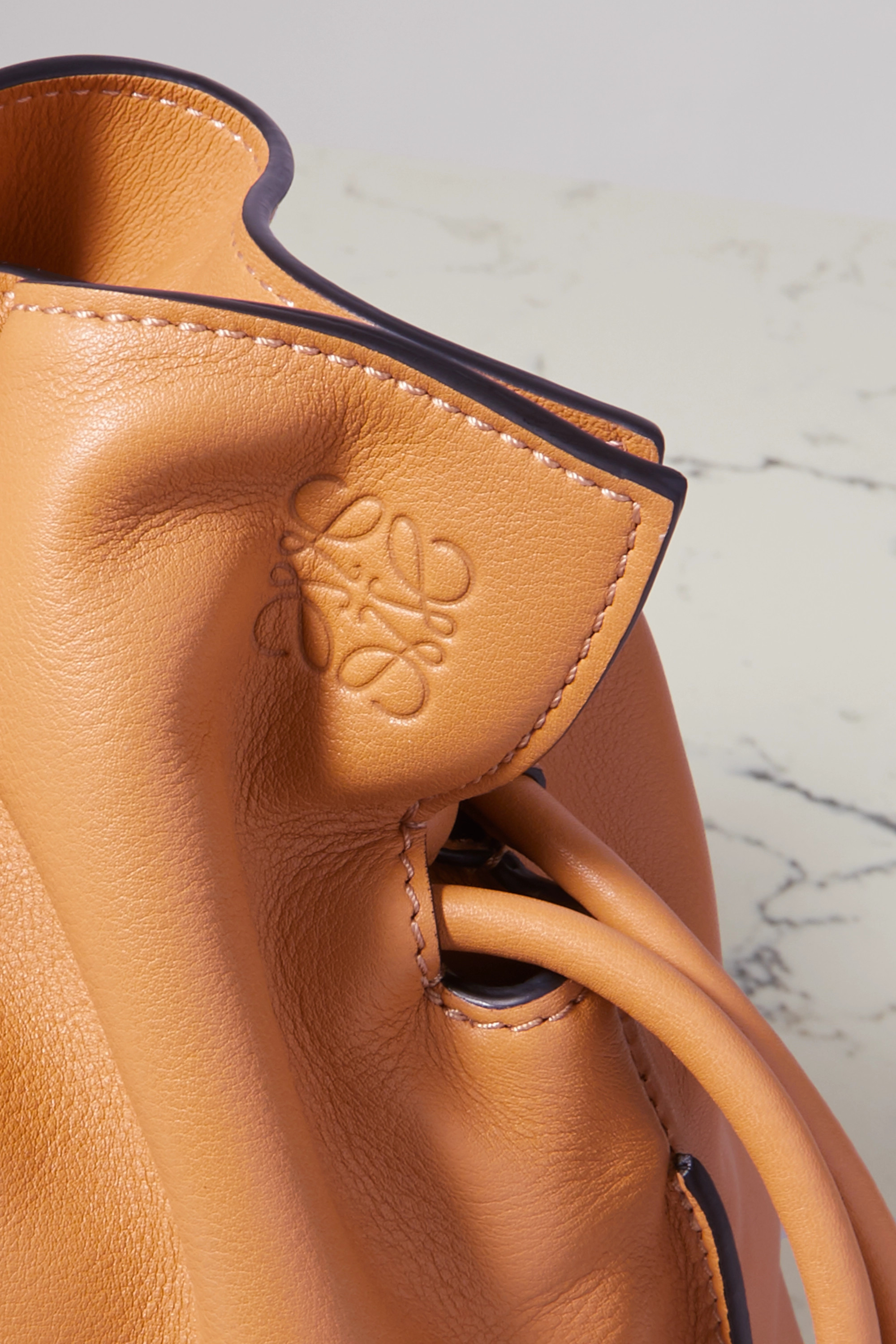 LOEWE Flamenco leather clutch