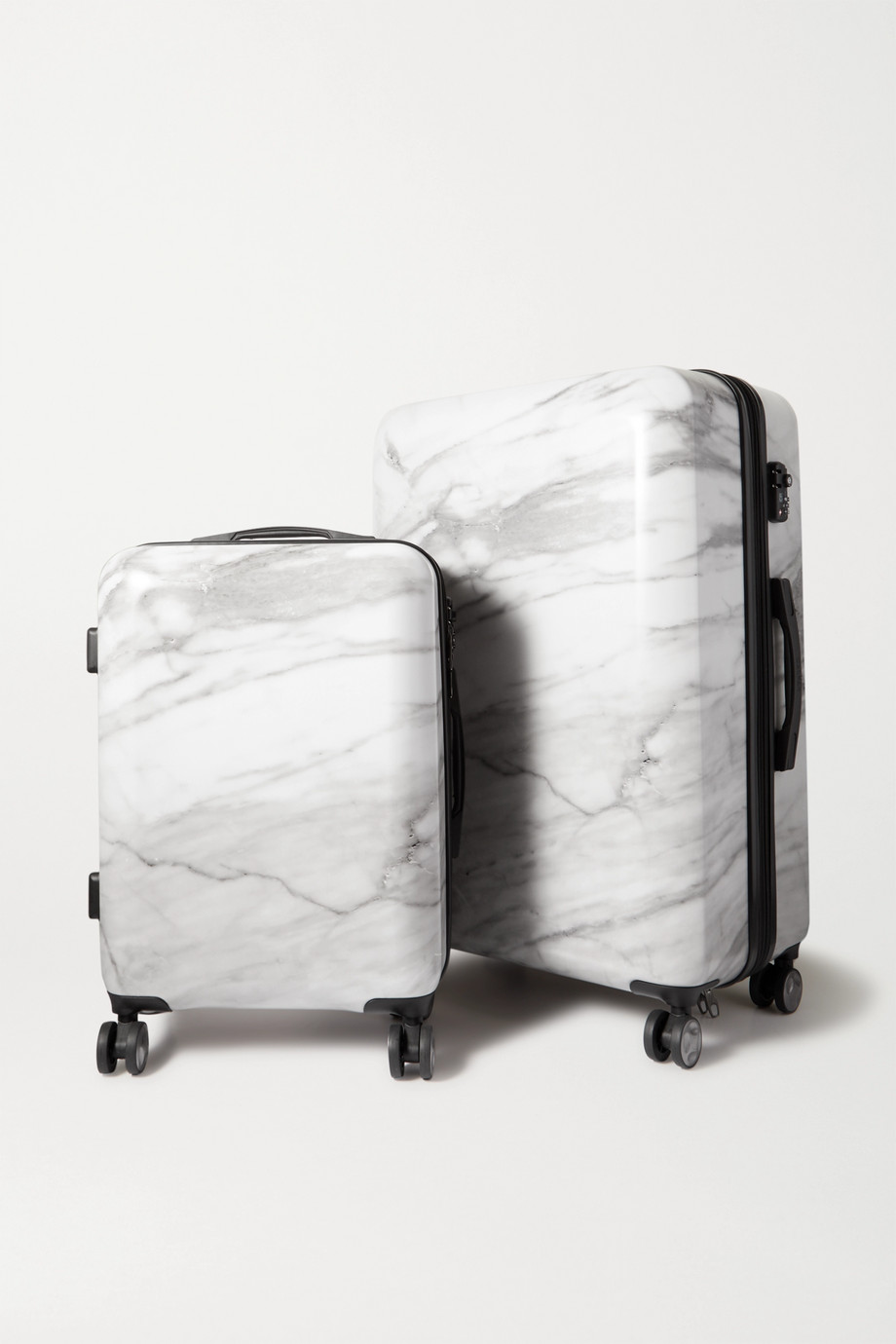 CALPAK Astyll set of two marbled hardshell suitcases