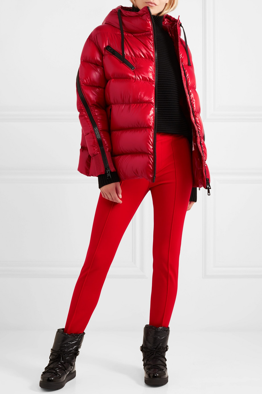 MONCLER Liriope hooded quilted glossed-shell down jacket