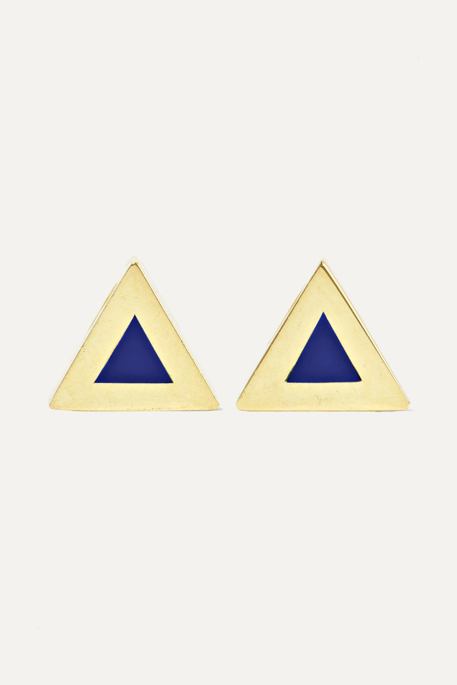 JENNIFER MEYER 18-karat gold lapis lazuli earrings