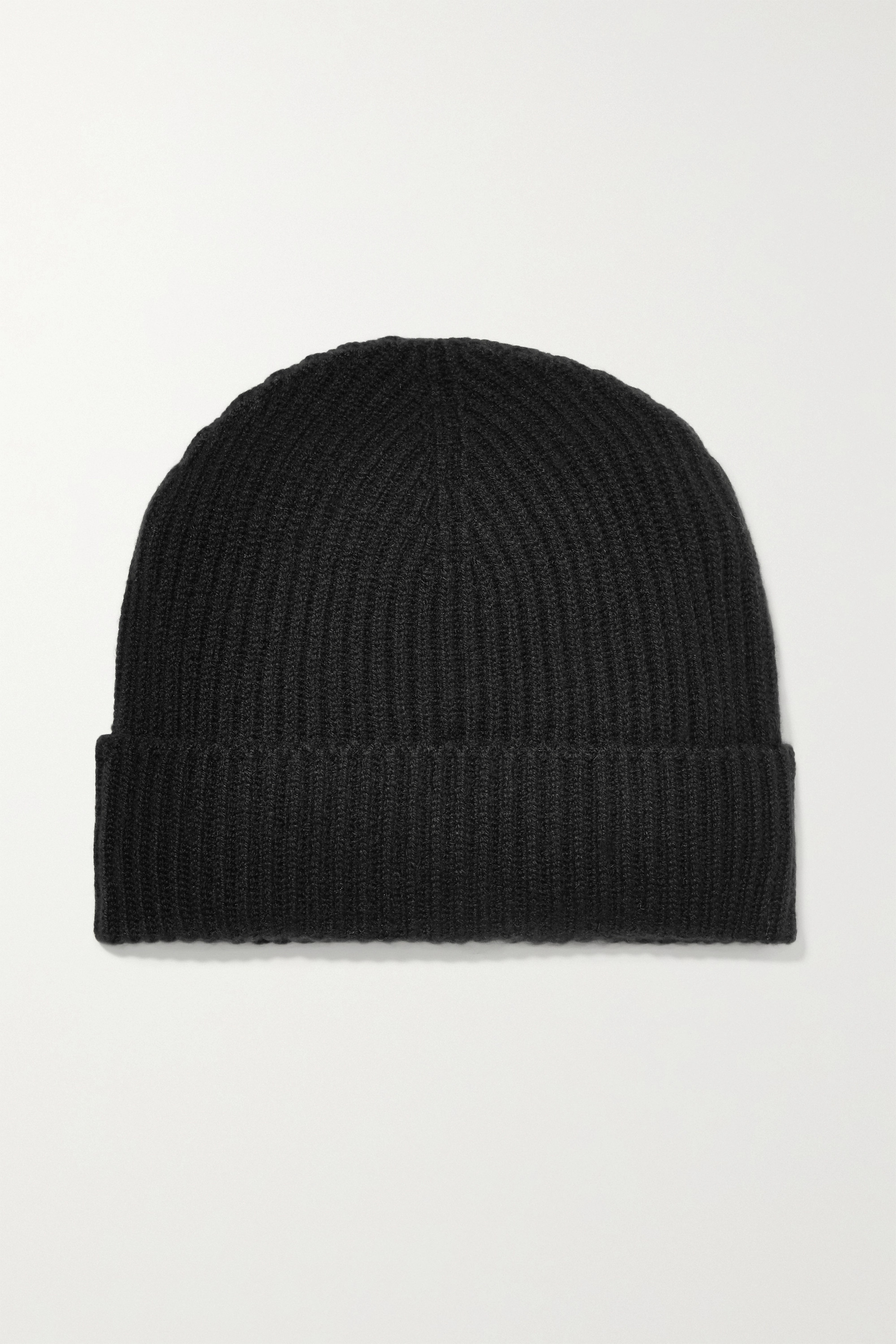JOHNSTONS OF ELGIN + NET SUSTAIN ribbed cashmere beanie