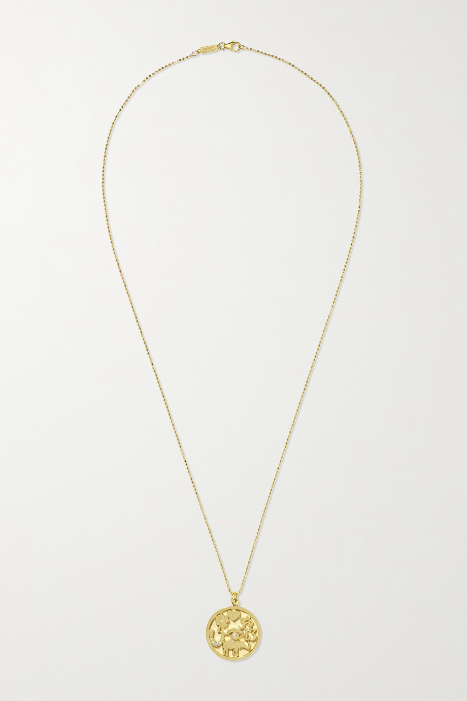 JENNIFER MEYER Good Luck 18-karat gold diamond necklace
