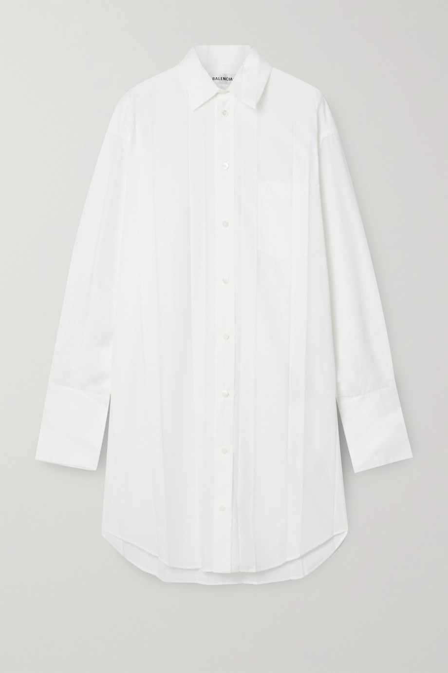 BALENCIAGA Pleated poplin shirt dress