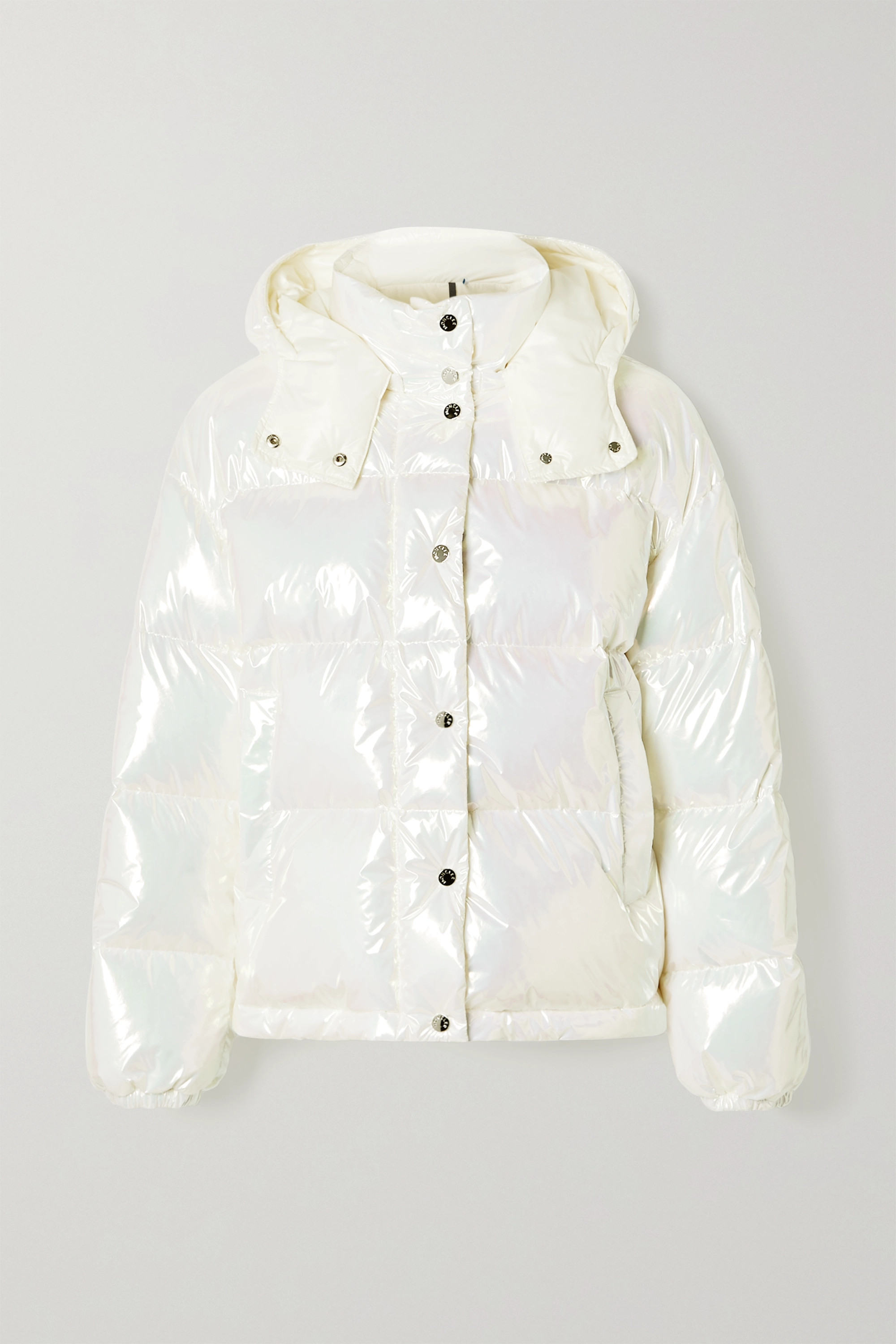 MONCLER Daos iridescent hooded quilted shell down jacket