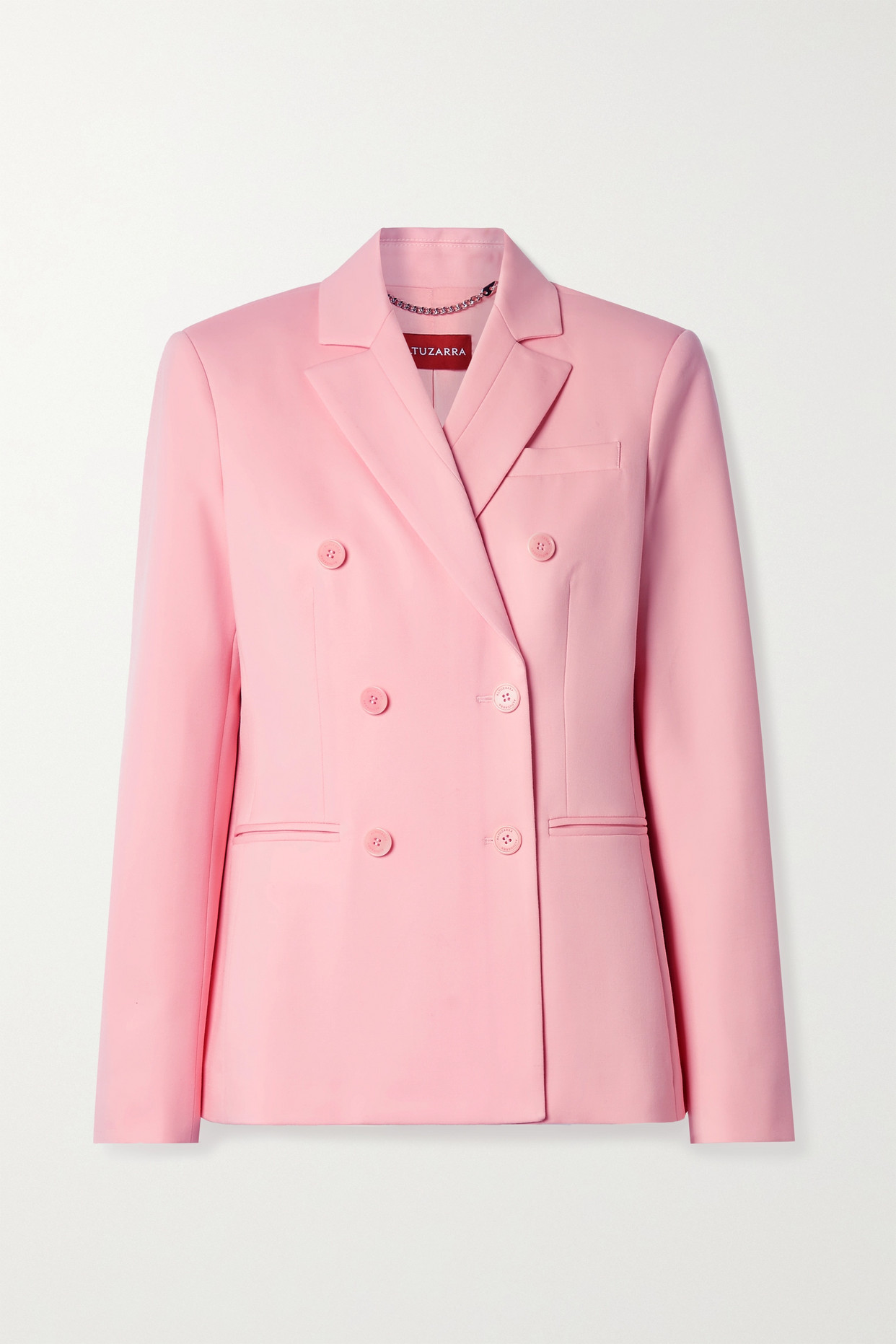 ALTUZARRA - Ana 双排扣羊毛混纺西装外套 - 粉红色 - IT42