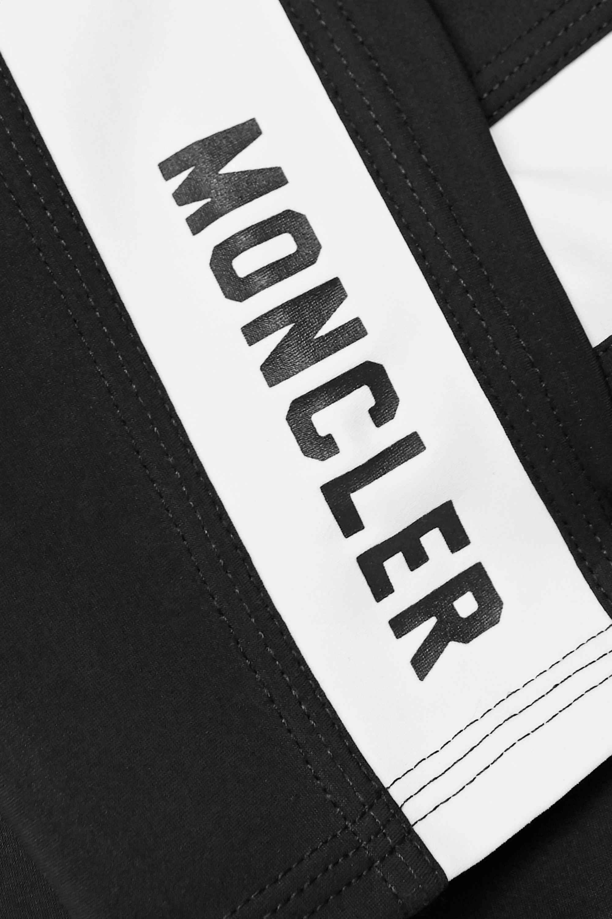 MONCLER Cropped two-tone stretch leggings