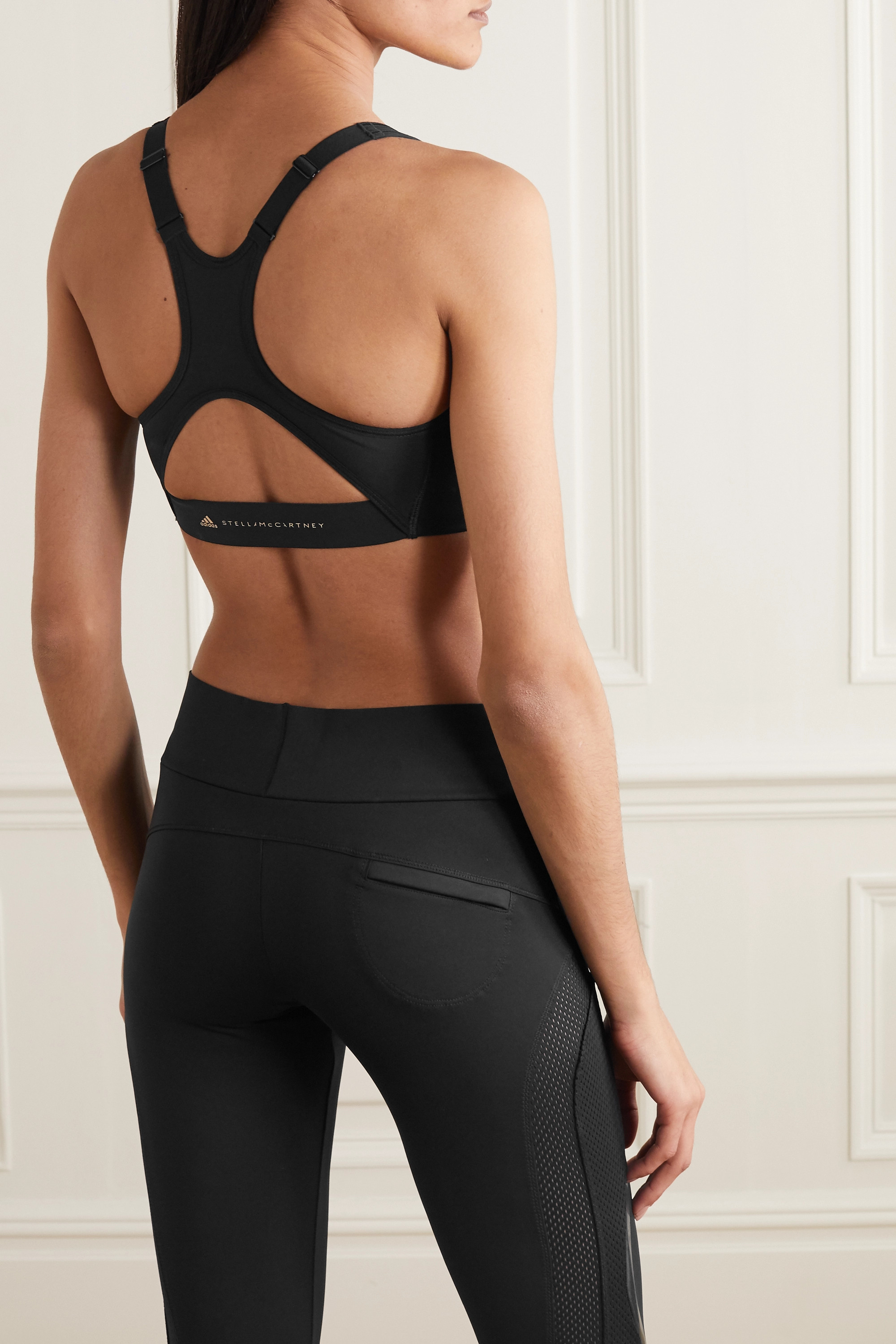 ADIDAS BY STELLA MCCARTNEY TruePurpose cutout perforated stretch sports bra