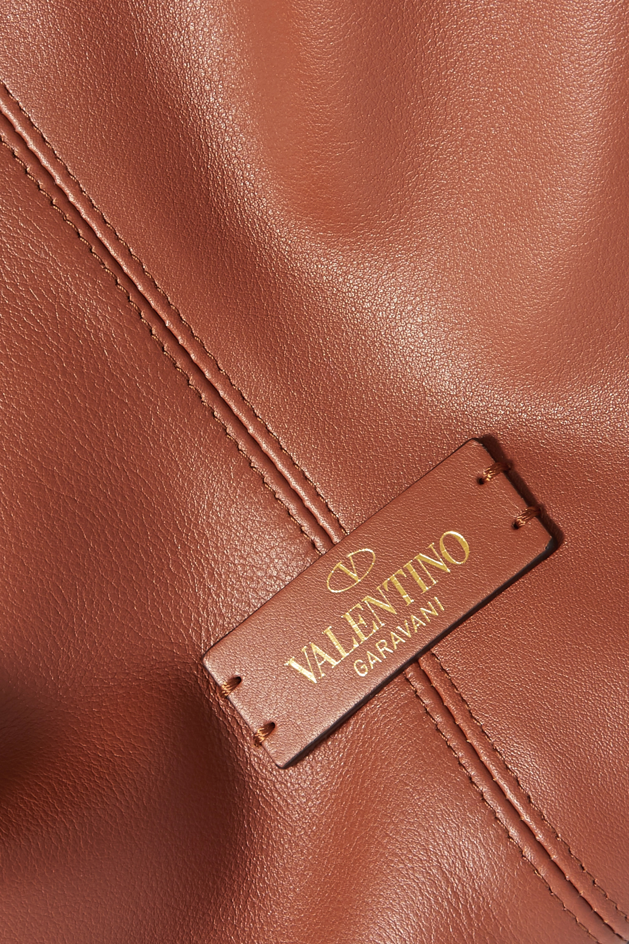VALENTINO Valentino Garavani Rockstud large leather and suede tote