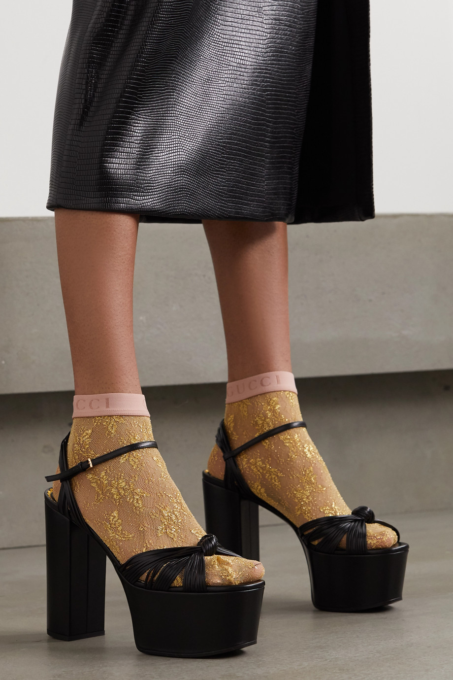 GUCCI Metallic lace socks